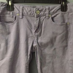 American eagle stretch purple pants size 4
